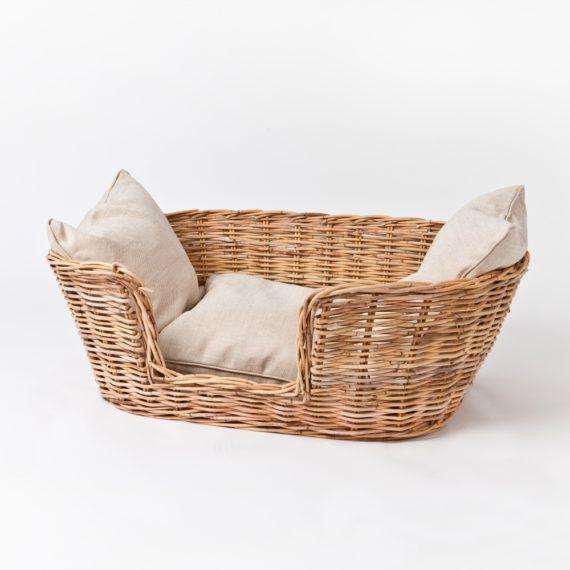 Woven dog basket